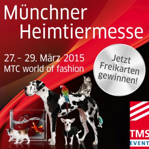 Gewinne 3 x 2 Freikarten für die Münchner Heimtiermesse 2015